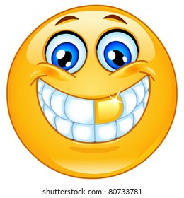 Golden tooth emoticon