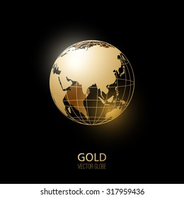 Usa map transparent background images stock photos vectors golden transparent globe isolated on black background vector icon freerunsca Image collections