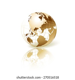 Usa map transparent background images stock photos vectors golden transparent globe isolated in white background vector icon freerunsca Image collections