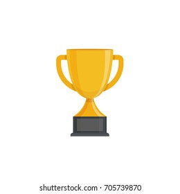 golden Trophy Cup Vector illustration