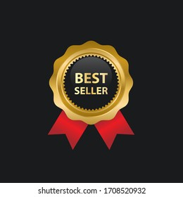 goldene Vektorillustration Handelsmarken und Multifunktionsleisten-Vorlagen. Die Vektorillustration wird in Ebenen angeordnet, um Graphic-Elemente vom Text zu trennen