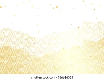 Golden wave with a paper like texture