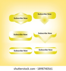Golden Web Subscribe Buttons useful for any website, blog, that wants to build an email list.