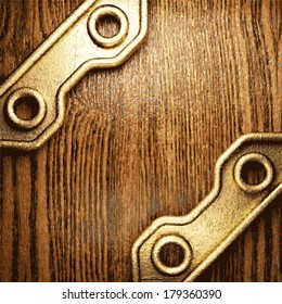 golden and wood  background
