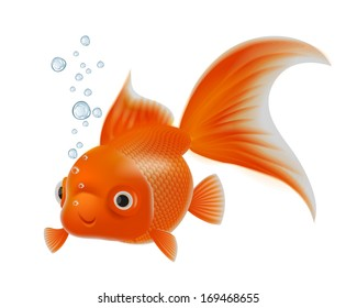 Goldenfish with bubbles