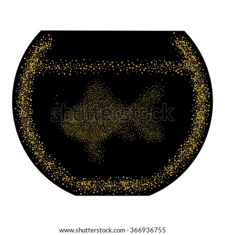Excellent Goldfish Bowl Glitter Gold Dust Background On Royalty Free Pdpeps Interior Chair Design Pdpepsorg