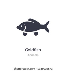 goldfish icon. isolated goldfish icon vector illustration from animals collection. editable sing symbol can be use for web site and mobile app