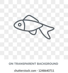 Goldfish icon. Trendy flat vector Goldfish icon on transparent background from animals collection. High quality filled Goldfish symbol use for web and mobile