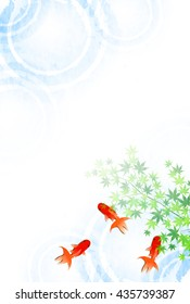 Goldfish Summer sympathy summer background