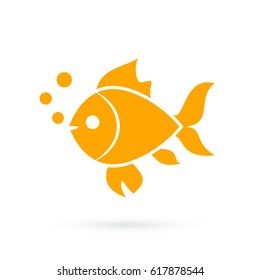 Goldfish vector icon on white background