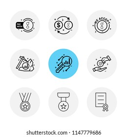 golem  crypto currency  dollar  money  coin  axe  key  medal  star  certificate  icon vector design  flat  collection style creative  icons