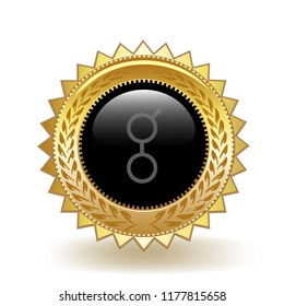 Golem Cryptocurrency Coin Gold Badge Medal Award