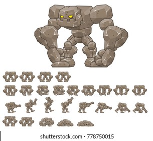 Golem game character for creating fantasy video games