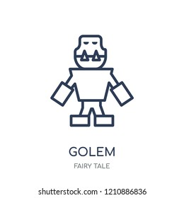 Golem icon. Golem linear symbol design from Fairy tale collection. Simple outline element vector illustration on white background.
