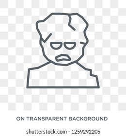 Golem icon. Trendy flat vector Golem icon on transparent background from Fairy Tale collection. High quality filled Golem symbol use for web and mobile