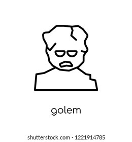 Golem icon. Trendy modern flat linear vector Golem icon on white background from thin line Fairy Tale collection, editable outline stroke vector illustration