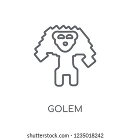 Golem linear icon. Modern outline Golem logo concept on white background from Fairy Tale collection. Suitable for use on web apps, mobile apps and print media.