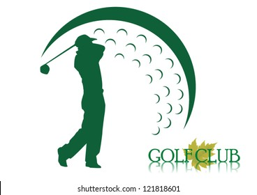 Golf background Golf icon. vector symbol