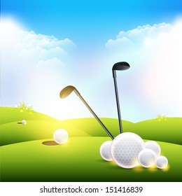 Golf Background Vector Design