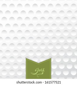 Golf backgrounds. Realistic rendition of golf ball texture closeup.