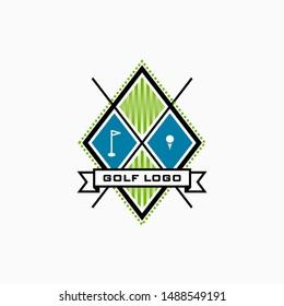golf badge logo design inspiration . vintage classic golf badge design . golf logo