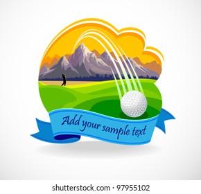 Golf Ball And A Beautiful Golf Club