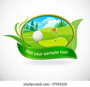 Golf Ball And Beautiful Golf Club