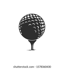 Golf ball / black and white / vector / icon