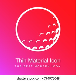 Golf ball with dents red and pink gradient material white icon minimal design
