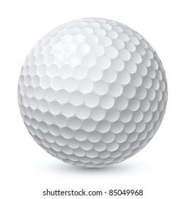 Golf Ball. Illustration on white background for design