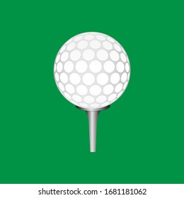 golf ball illustration vector design with green backgroun