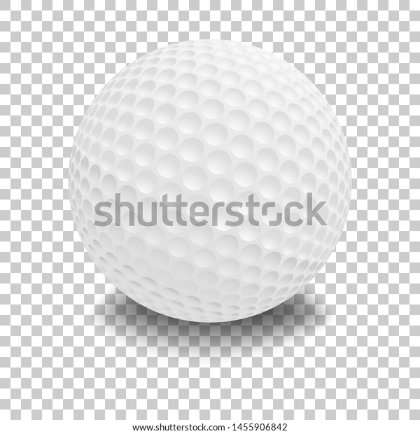 Golf Ball Isolated On Transparent Background Stock Vector Royalty Free 1455906842