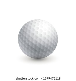 Golf ball. Isolated on a white background. Sport equipment. Vector illustration.