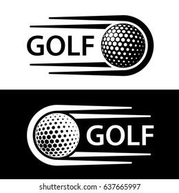 golf ball motion line symbol vector