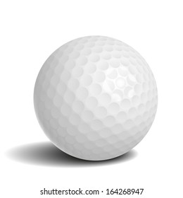 Golf ball with shadow vector illustration