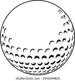 Golf Ball Sport Icon Vector Design