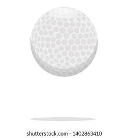 Golf ball vector icon. Plastic ball concept illustration. White ball realistic style design, designed for web and app. Eps 10