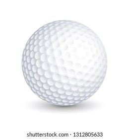 Golf ball. Vector illustration