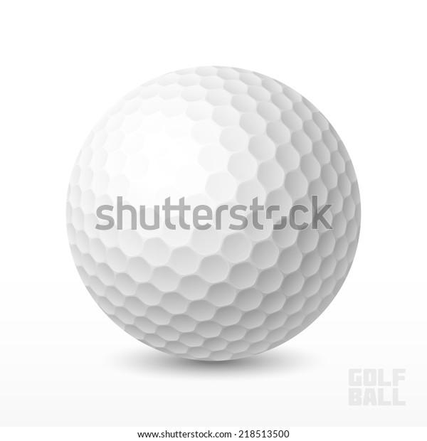 Golf ball. Vector illustration.