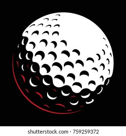 Golf ball vector on dark background