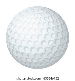 Golf ball.Golf club single icon in cartoon style vector symbol stock illustration web.