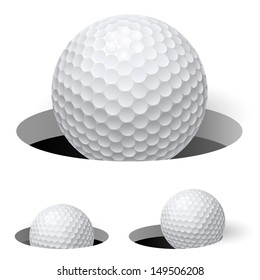 Golf balls. Illustration on white background for design