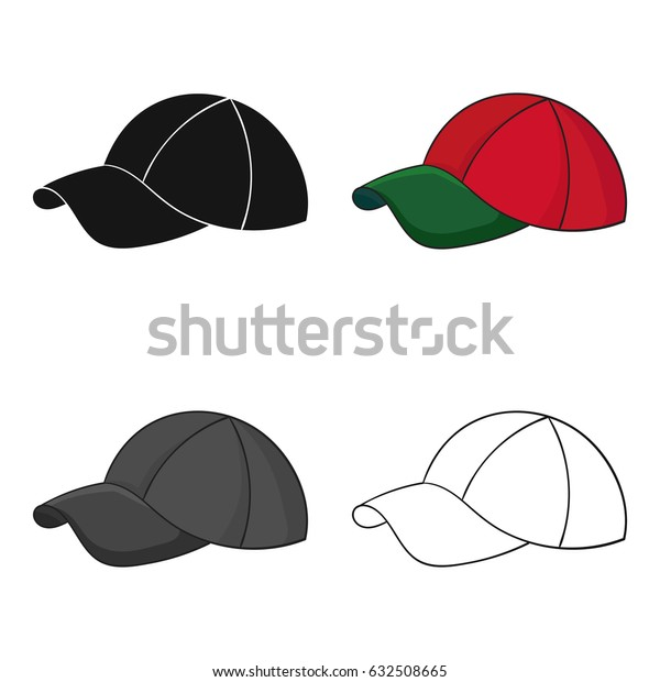 Golf cap icon in cartoon style isolated on white background. Golf club symbol stock vector illustration.