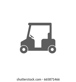 Golf car icon in trendy flat style isolated on white background. Symbol for your web site design, logo, app, UI. Vector illustration, EPS