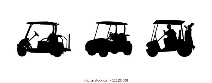 golf car Silhouettes