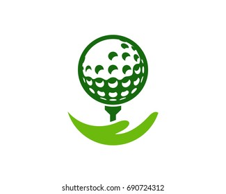 Golf Care Icon Logo Design Element