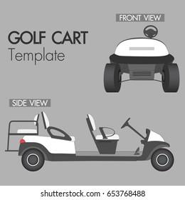 Golf cart 4 seat template vector