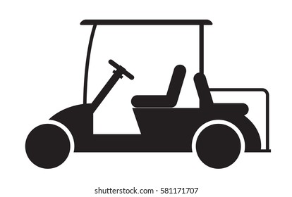 Golf cart or golf car icon vector illustration