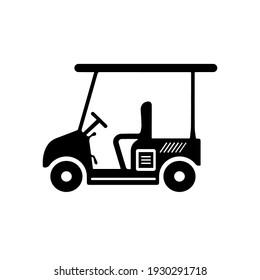Golf Cart Icon, Sport Cart, Golf Car Icon Vector Art Illustration