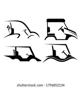 golf cart logo vector illustration